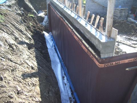 Mur en banché et étanchéité